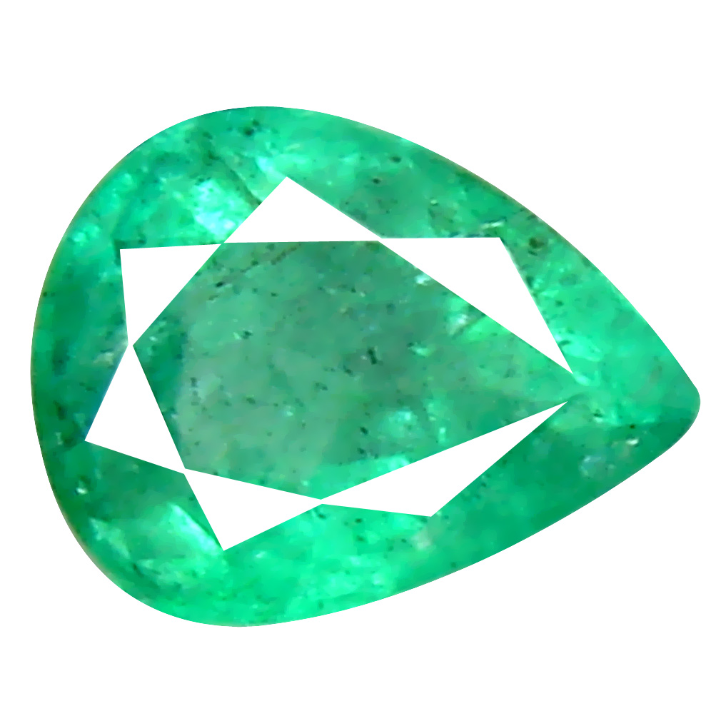 0.45 ct Super-Excellent Pear Cut (6 x 5 mm) Colombian Emerald Natural Gemstone