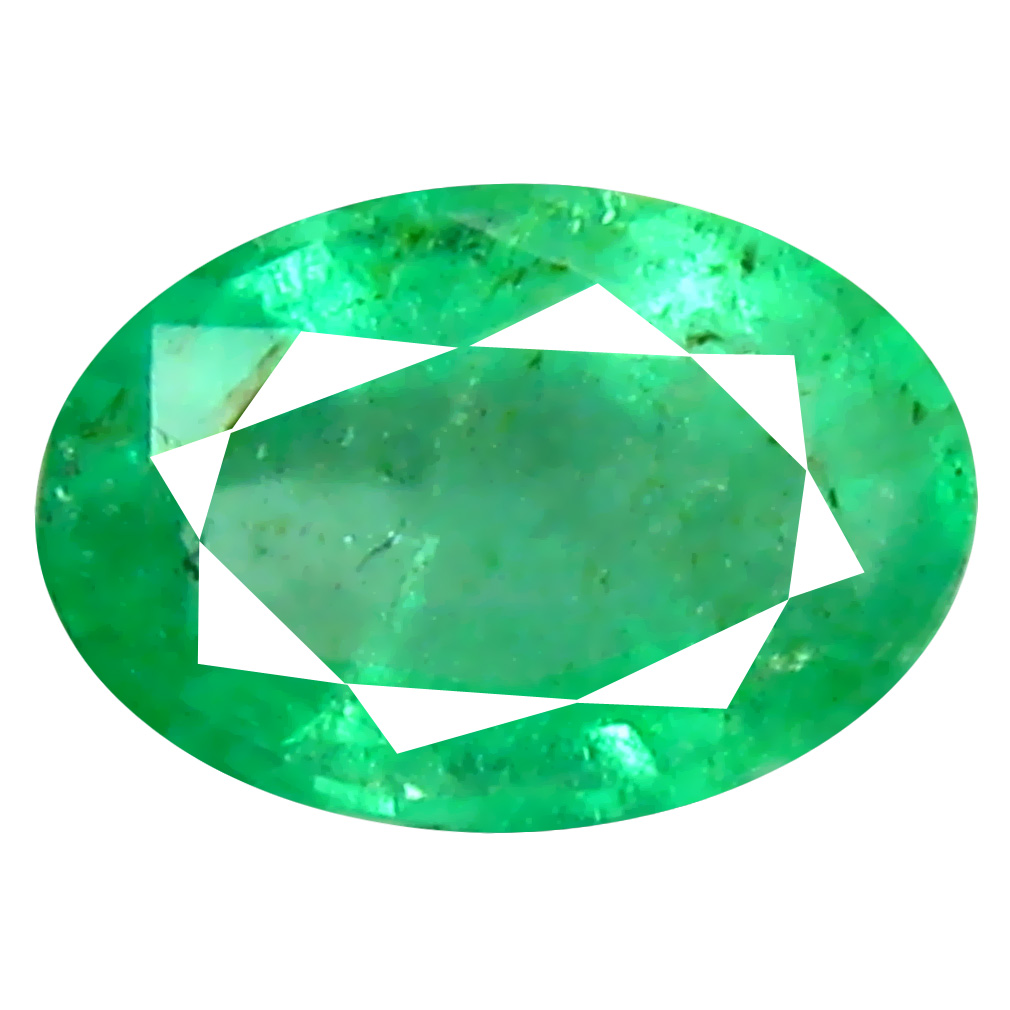 0.42 ct Superb Oval Cut (6 x 4 mm) Colombian Emerald Natural Gemstone