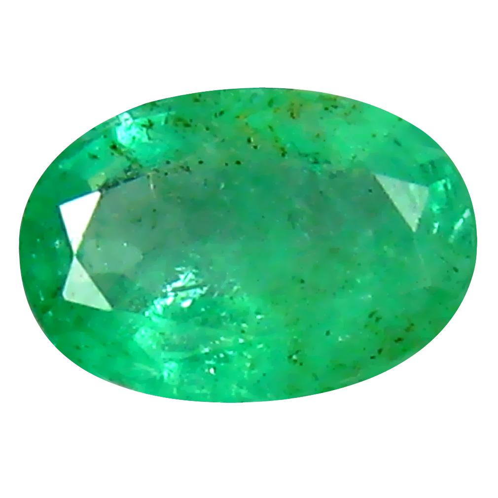 0.37 ct Phenomenal Oval Cut (6 x 4 mm) Colombian Emerald Natural Gemstone