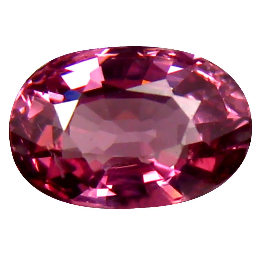 0.91 ct AAA+ Excellent Oval Shape (7 x 5 mm) Pinkish Orange Malaya Garnet Natural Gemstone