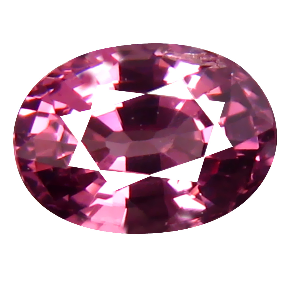 0.85 ct AAA+ Flashing Oval Shape (6 x 5 mm) Pinkish Orange Malaya Garnet Natural Gemstone