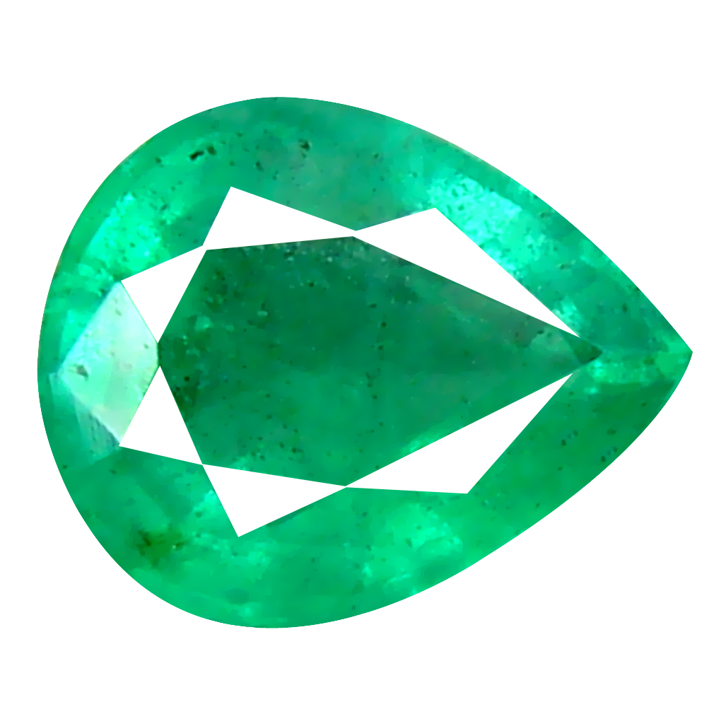 0.43 ct Excellent Pear Cut (6 x 5 mm) Colombian Emerald Natural Gemstone