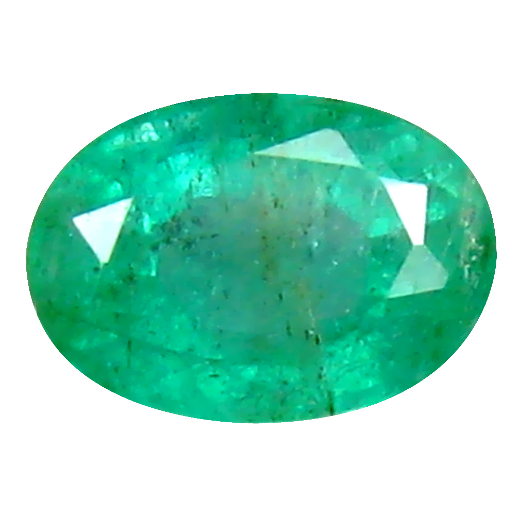 0.52 ct Resplendent Oval Cut (6 x 4 mm) Colombian Emerald Natural Gemstone