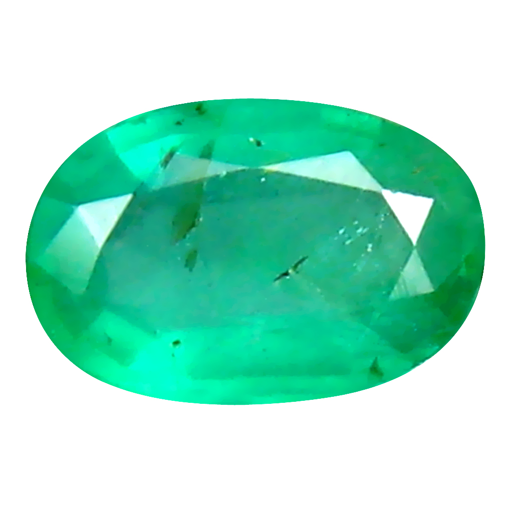 0.36 ct Flashing Oval Cut (6 x 4 mm) Colombian Emerald Natural Gemstone