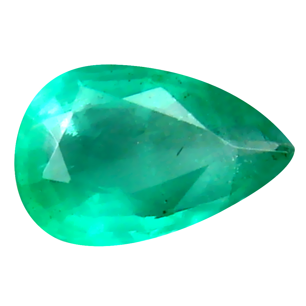 0.30 ct First-class Pear Cut (6 x 4 mm) Colombian Emerald Natural Gemstone