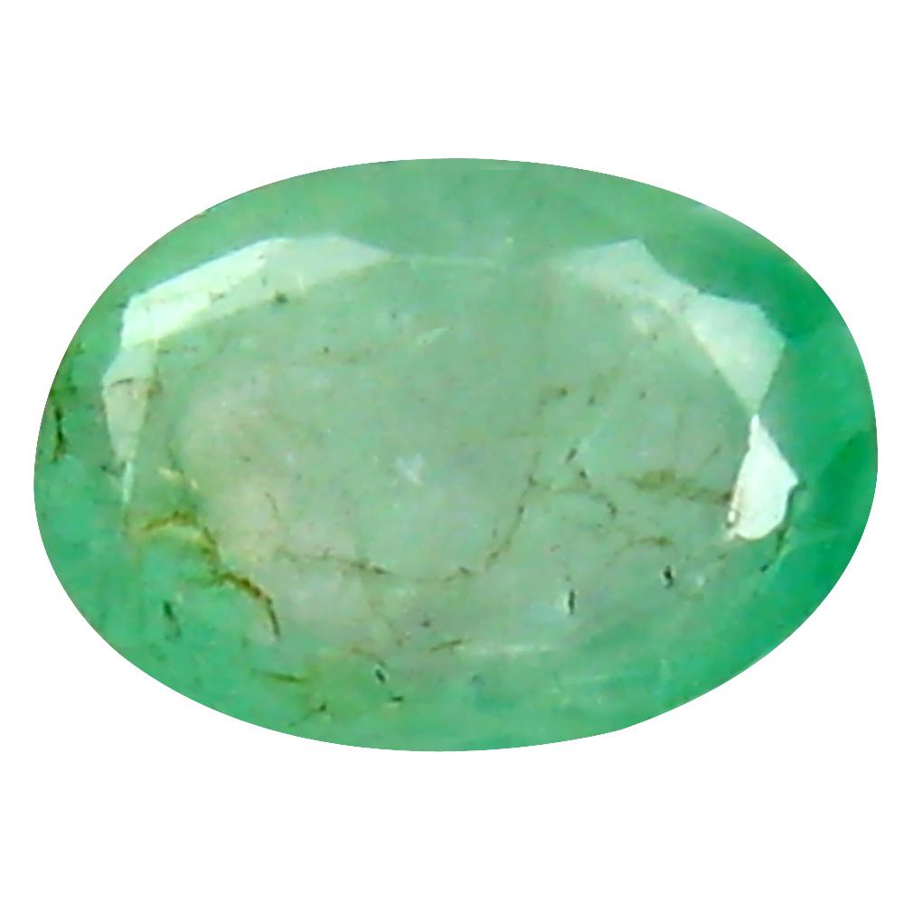 0.45 ct Premium Oval Cut (6 x 4 mm) Colombian Emerald Natural Gemstone