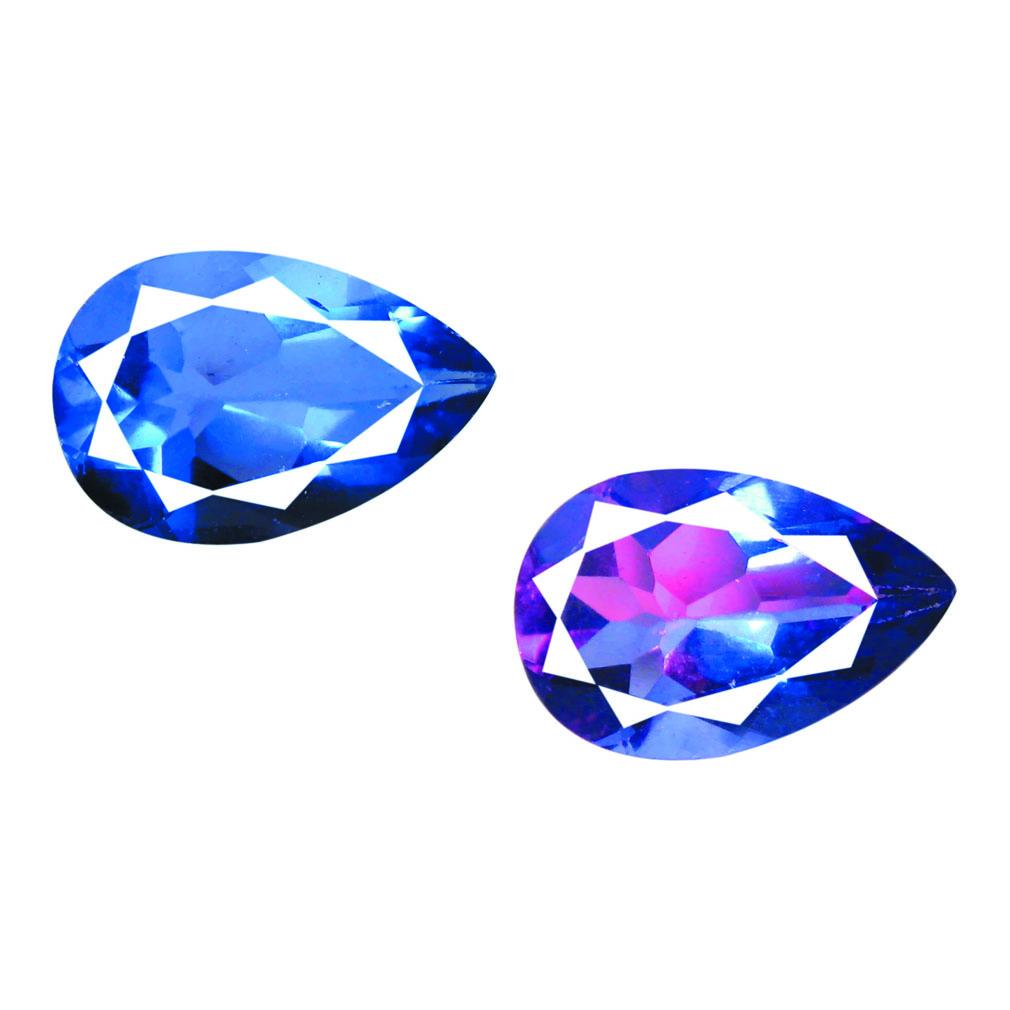 5.74 ct AAA ROMANTIC PEAR SHAPE (16 X 10 MM) BLUE FLUORITE NATURAL GEMSTONE