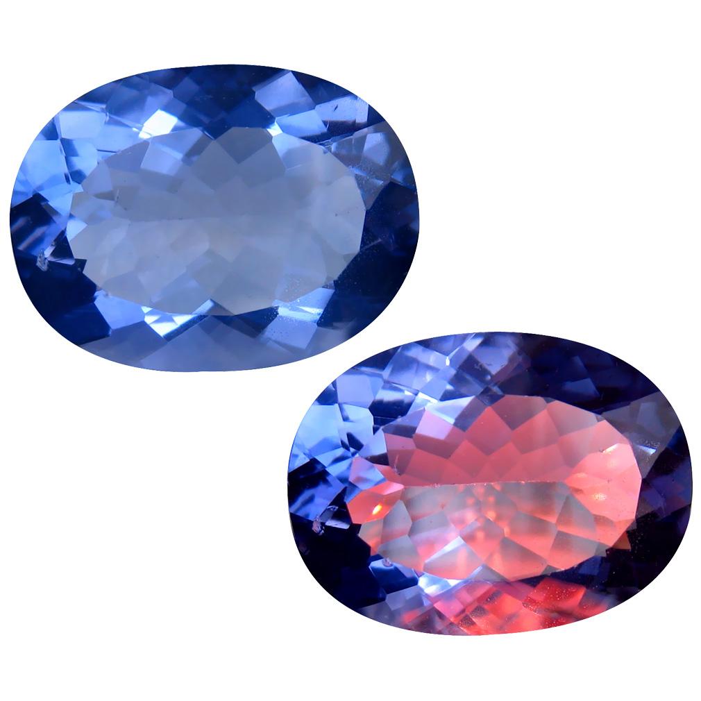 18.90 ct Sparkling Oval (20 x 15 mm) Brazil Color Change Fluorite Natural Loose Gemstone