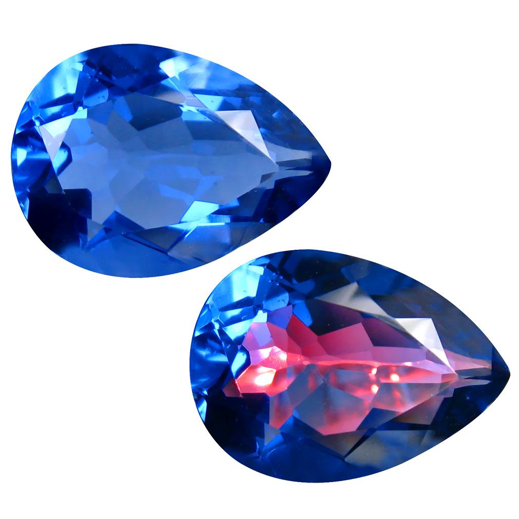 12.93 ct Elegant Pear (18 x 13 mm) Brazil Color Change Fluorite Natural Loose Gemstone