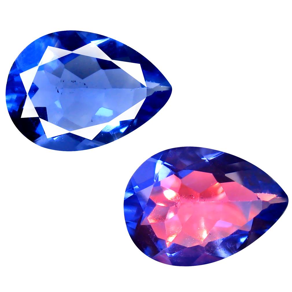 6.33 ct Sparkling Pear (14 x 10 mm) Brazil Color Change Fluorite Natural Loose Gemstone