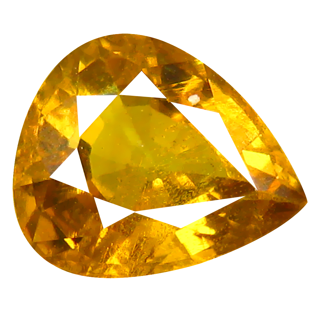 1.31 ct Unbelievable Pear Cut (8 x 6 mm) Greenish Yellow Un-Heated Mali Garnet Natural Gemstone