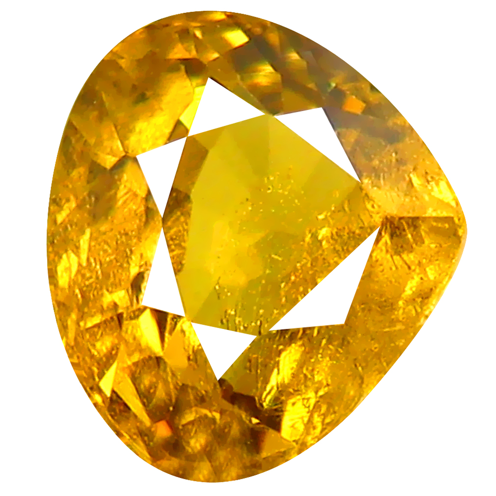 1.54 ct Magnificent fire Pear Cut (7 x 7 mm) Greenish Yellow Un-Heated Mali Garnet Natural Gemstone