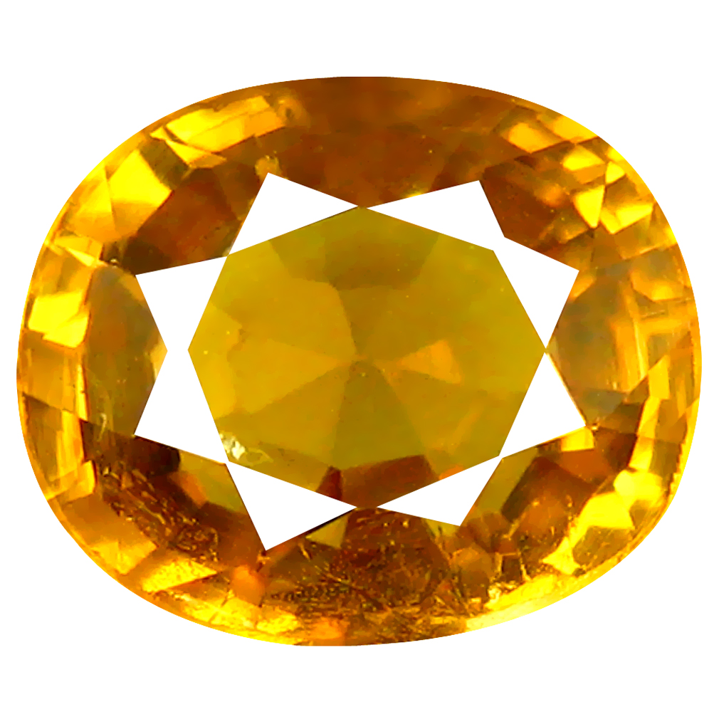 2.06 ct Outstanding Oval Cut (8 x 7 mm) Greenish Yellow Un-Heated Mali Garnet Natural Gemstone