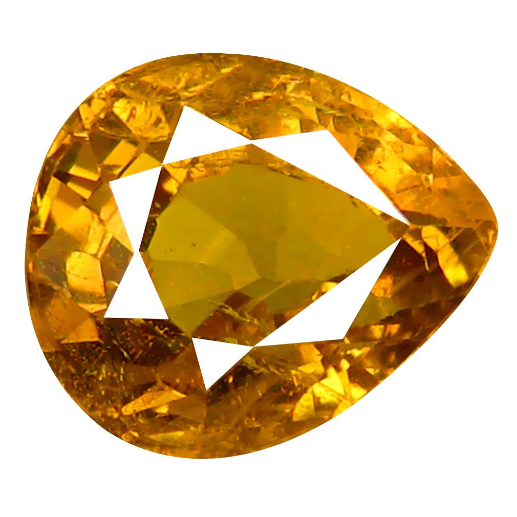 1.75 ct Eye-popping Pear Cut (7 x 6 mm) Greenish Yellow Un-Heated Mali Garnet Natural Gemstone