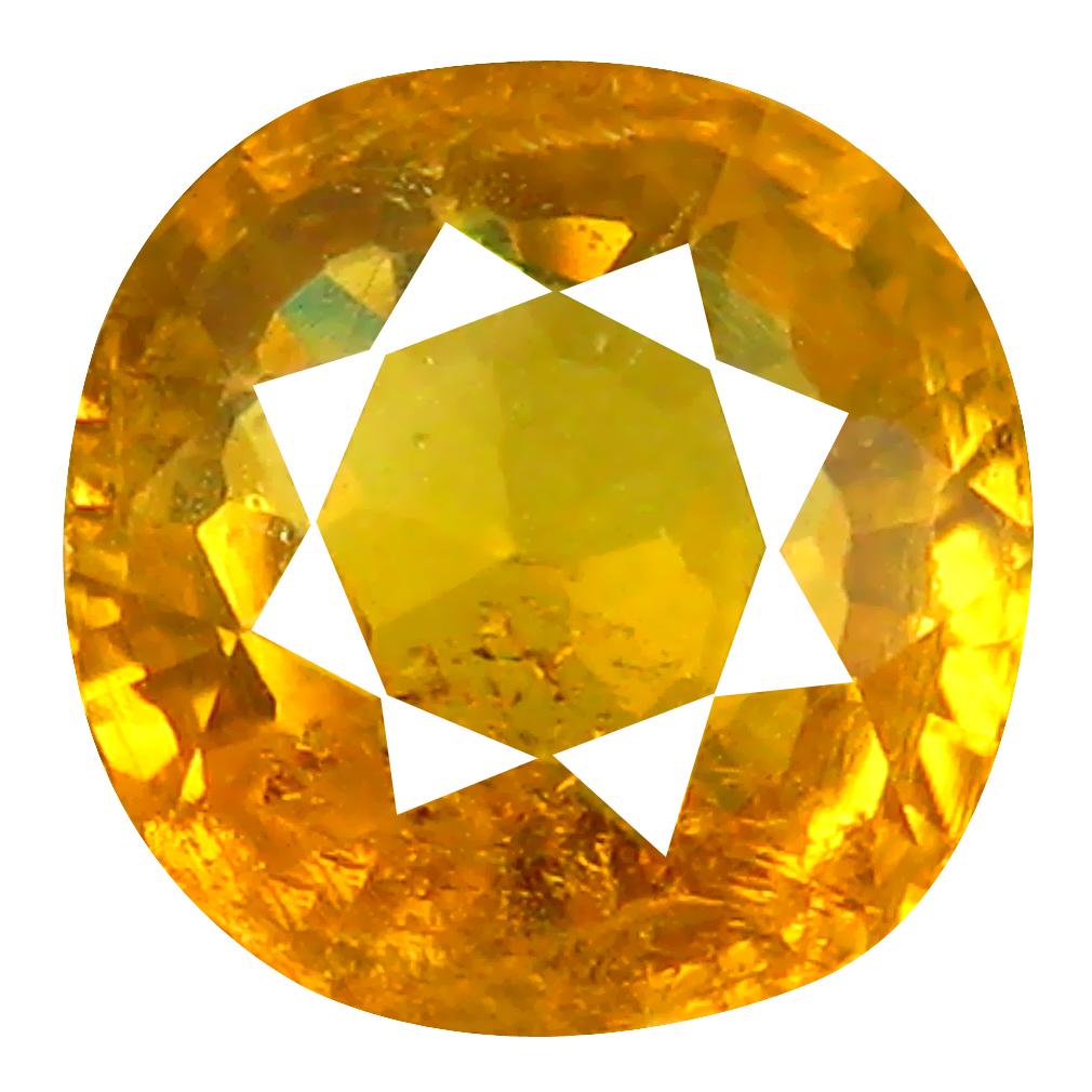 1.79 ct World class Cushion Cut (7 x 7 mm) Greenish Yellow Un-Heated Mali Garnet Natural Gemstone