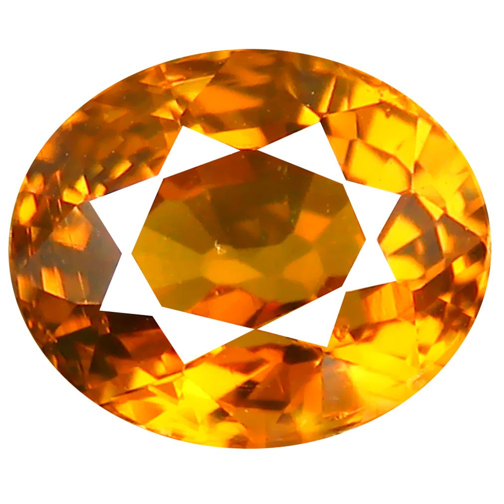1.72 ct Incomparable Oval Cut (7 x 6 mm) Honey Yellow Un-Heated Mali Garnet Natural Gemstone