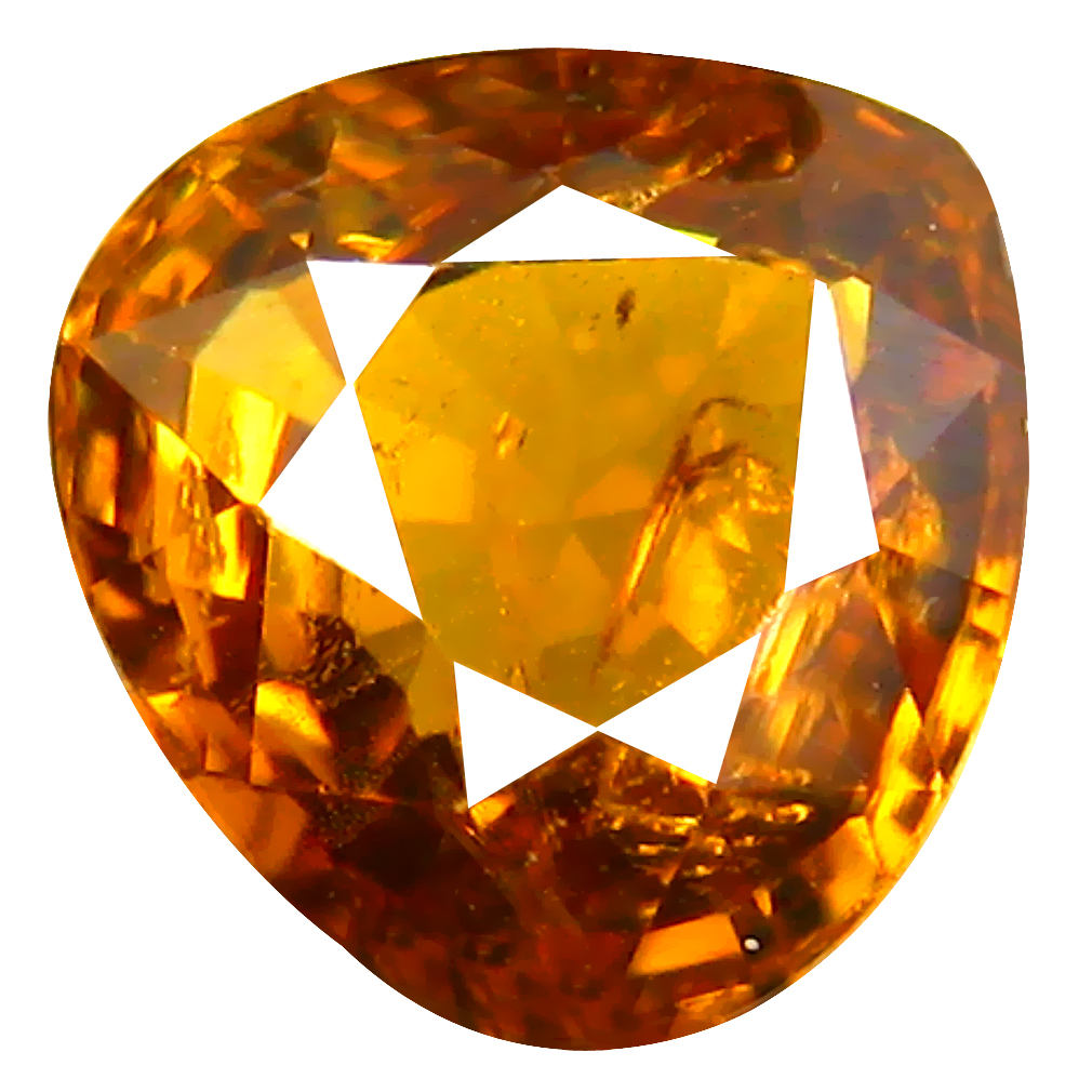 1.37 ct Outstanding Pear Cut (6 x 7 mm) Honey Yellow Un-Heated Mali Garnet Natural Gemstone