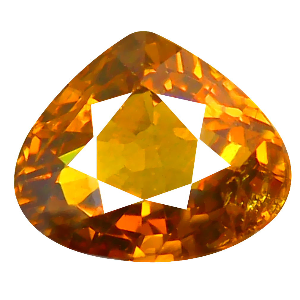 1.63 ct World class Pear Cut (6 x 7 mm) Honey Yellow Un-Heated Mali Garnet Natural Gemstone