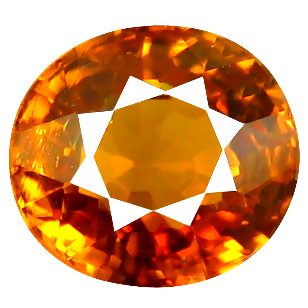 1.87 ct Five-star Oval Cut (7 x 6 mm) Honey Yellow Un-Heated Mali Garnet Natural Gemstone