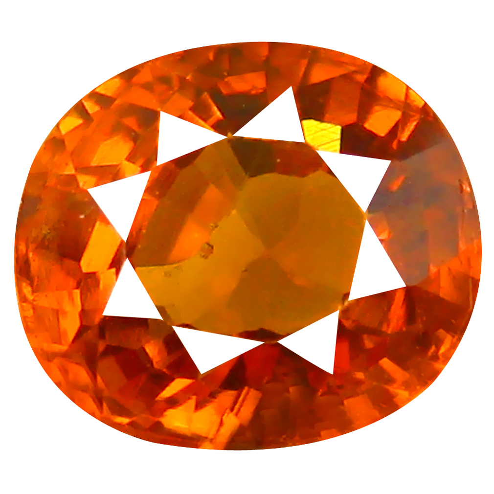 2.15 ct Five-star Oval Cut (7 x 7 mm) Honey Yellow Un-Heated Mali Garnet Natural Gemstone