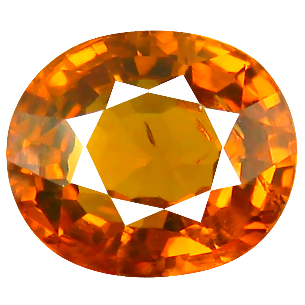 2.08 ct Very good Oval Cut (8 x 7 mm) Honey Yellow Un-Heated Mali Garnet Natural Gemstone
