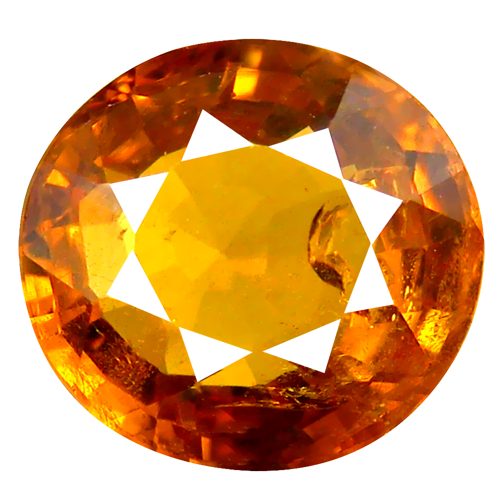 3.69 ct Eye-popping Oval Cut (9 x 9 mm) Honey Yellow Un-Heated Mali Garnet Natural Gemstone