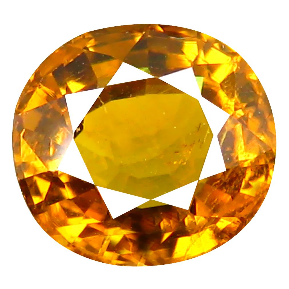 1.63 ct Premium Oval Cut (7 x 6 mm) Greenish Yellow Un-Heated Mali Garnet Natural Gemstone