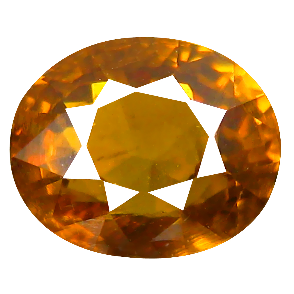 1.88 ct Remarkable Oval Cut (7 x 6 mm) Honey Yellow Un-Heated Mali Garnet Natural Gemstone