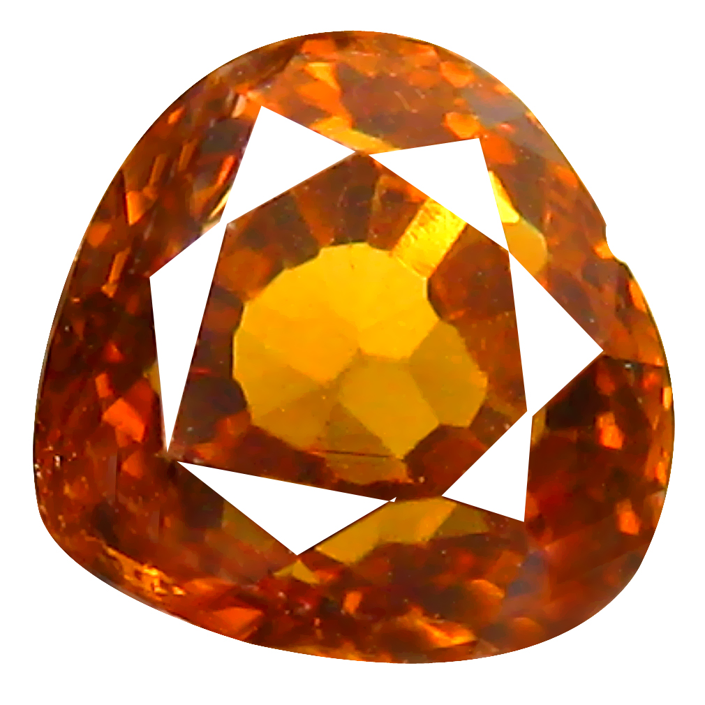 2.00 ct Spectacular Heart Cut (7 x 7 mm) Honey Yellow Un-Heated Mali Garnet Natural Gemstone
