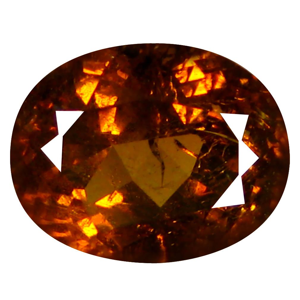1.74 ct  Attractive Oval Shape (7 x 6 mm) Brownish Green Mali Garnet Natural Gemstone