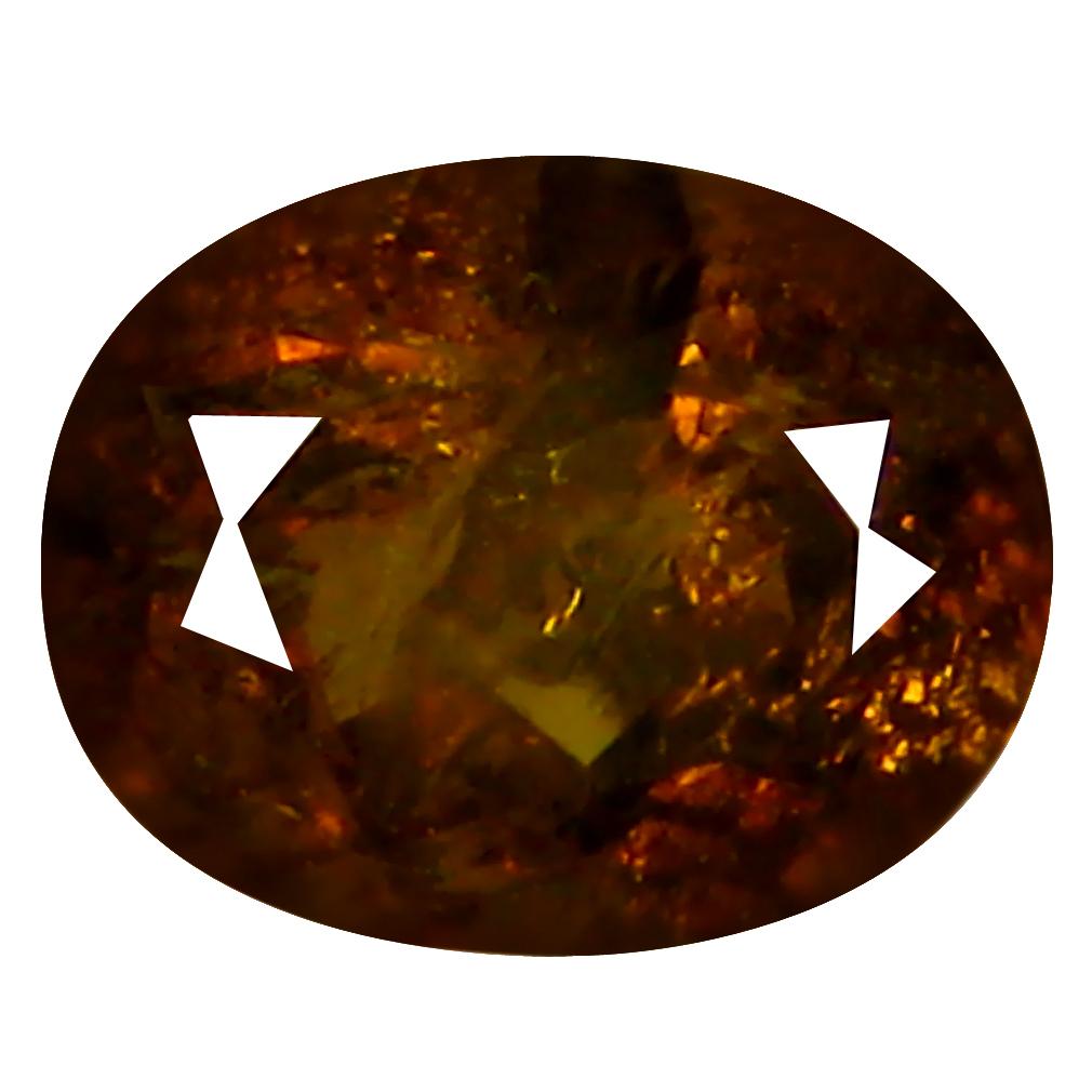 1.61 ct  Wonderful Oval Shape (7 x 6 mm) Brownish Green Mali Garnet Natural Gemstone