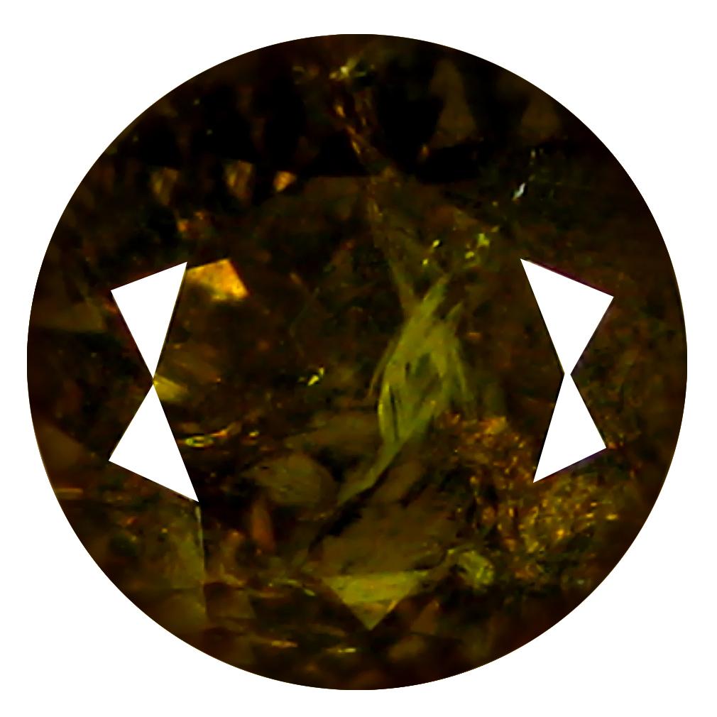 1.74 ct  Remarkable Round Shape (7 x 7 mm) Brownish Green Mali Garnet Natural Gemstone