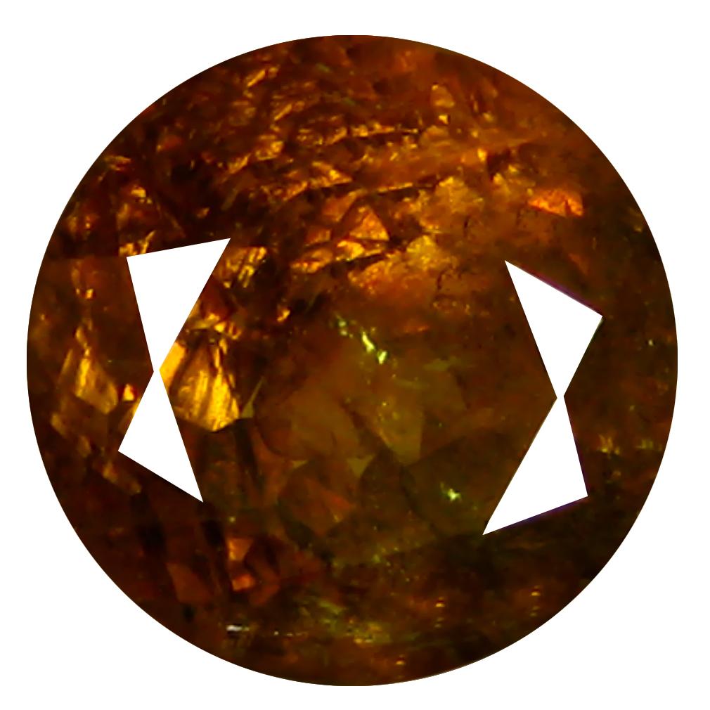 2.30 ct  Awe-inspiring Round Shape (7 x 7 mm) Brownish Green Mali Garnet Natural Gemstone