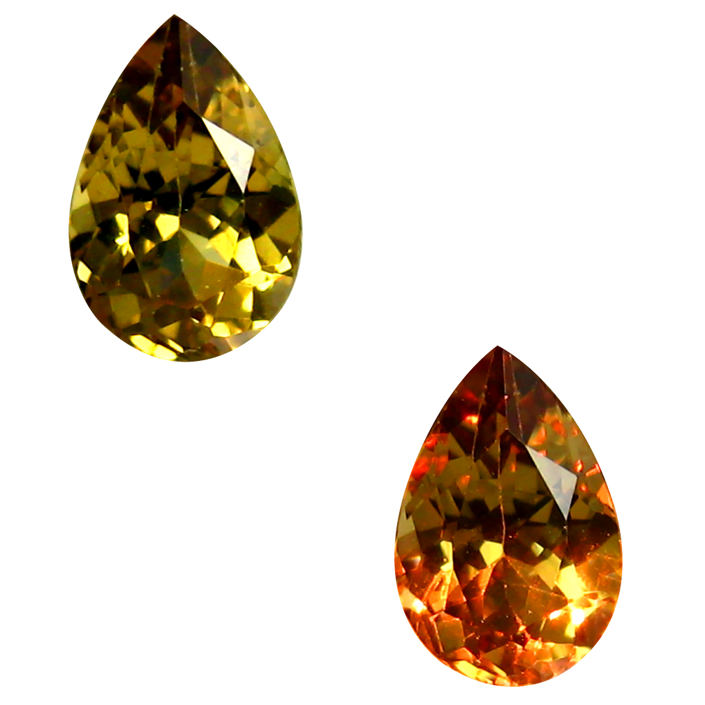 0.56 ct AAA+ Exquisite Pear Shape (6 x 4 mm) Natural Color Change Garnet Loose Stone