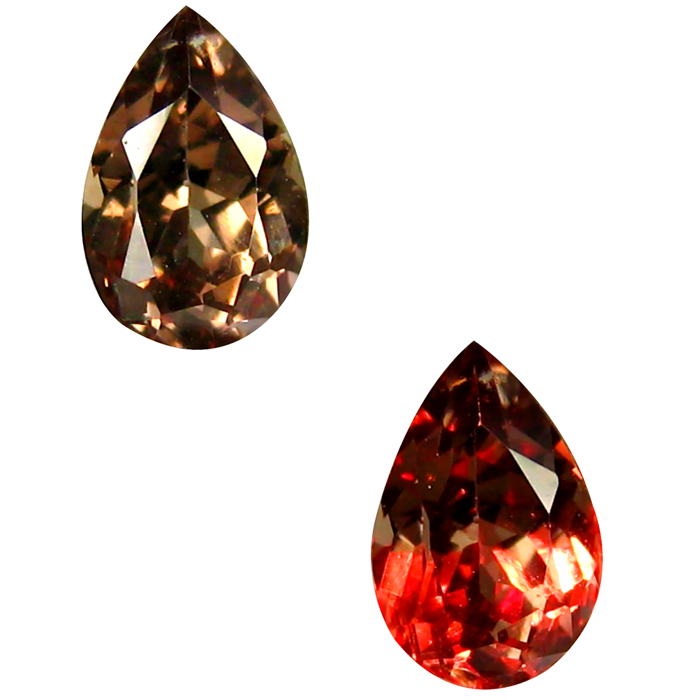 0.57 ct AAA+ Marvelous Pear Shape (6 x 4 mm) Natural Color Change Garnet Loose Stone