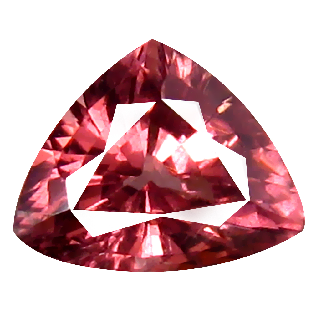 0.78 ct AAA+ Magnificent fire Trillion Shape (6 x 5 mm) Pink Malaya Garnet Natural Gemstone