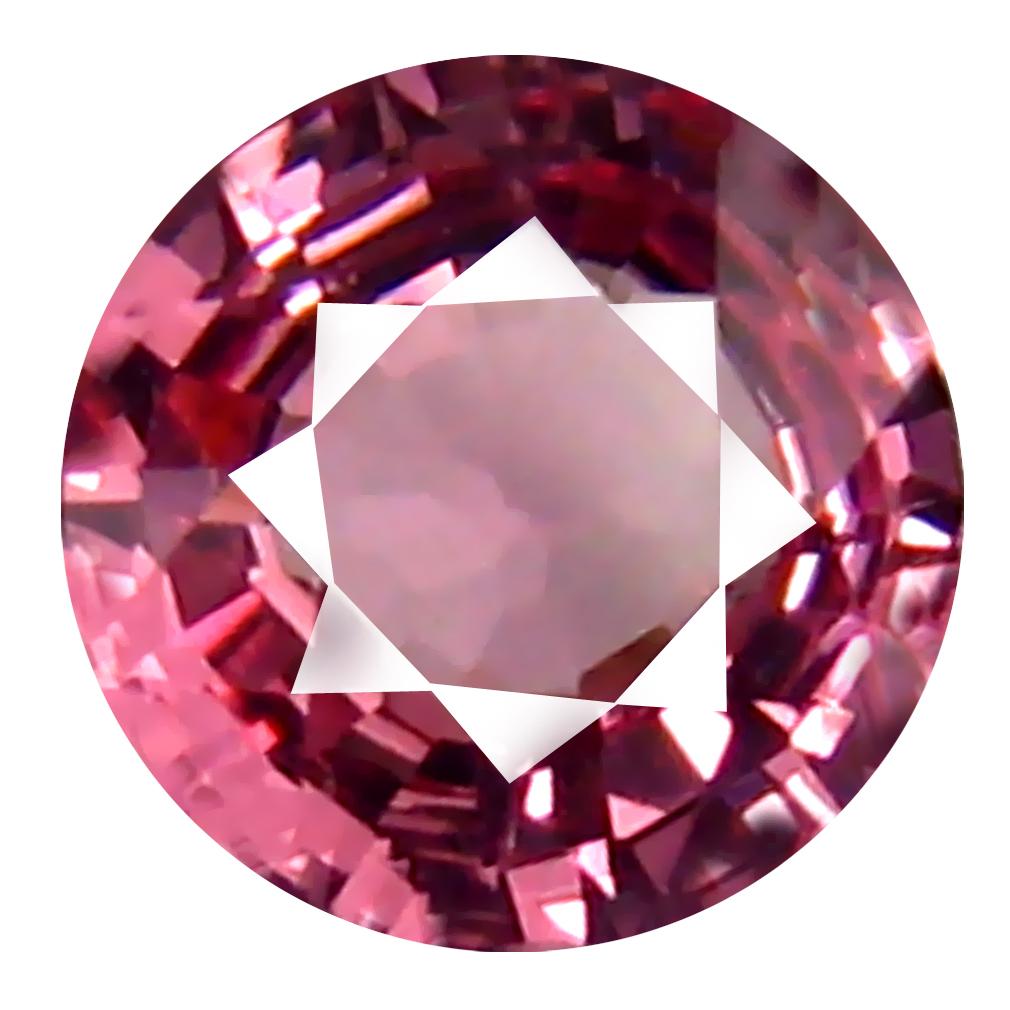 0.70 ct AAA+ Best Round Shape (6 x 6 mm) Pink Malaya Garnet Natural Gemstone