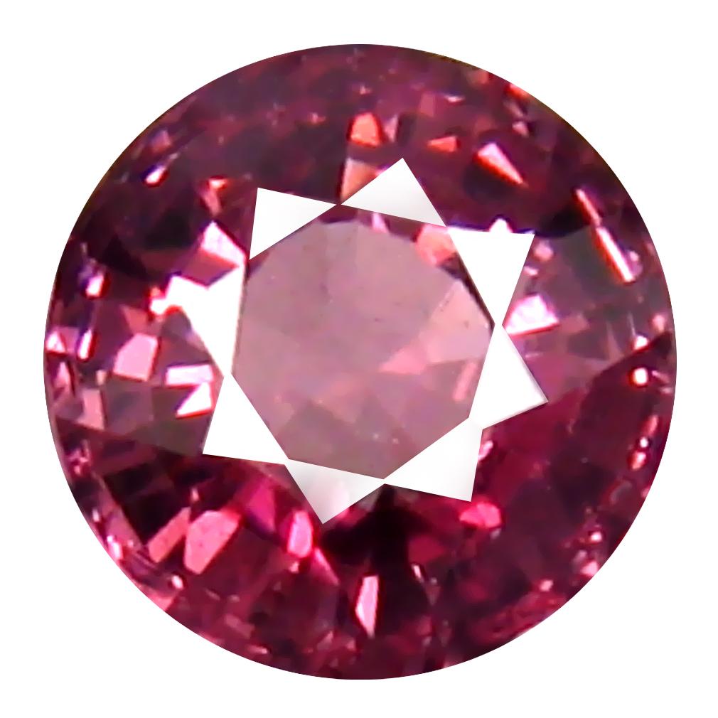 0.94 ct AAA+ Sparkling Round Shape (6 x 6 mm) Pink Malaya Garnet Natural Gemstone