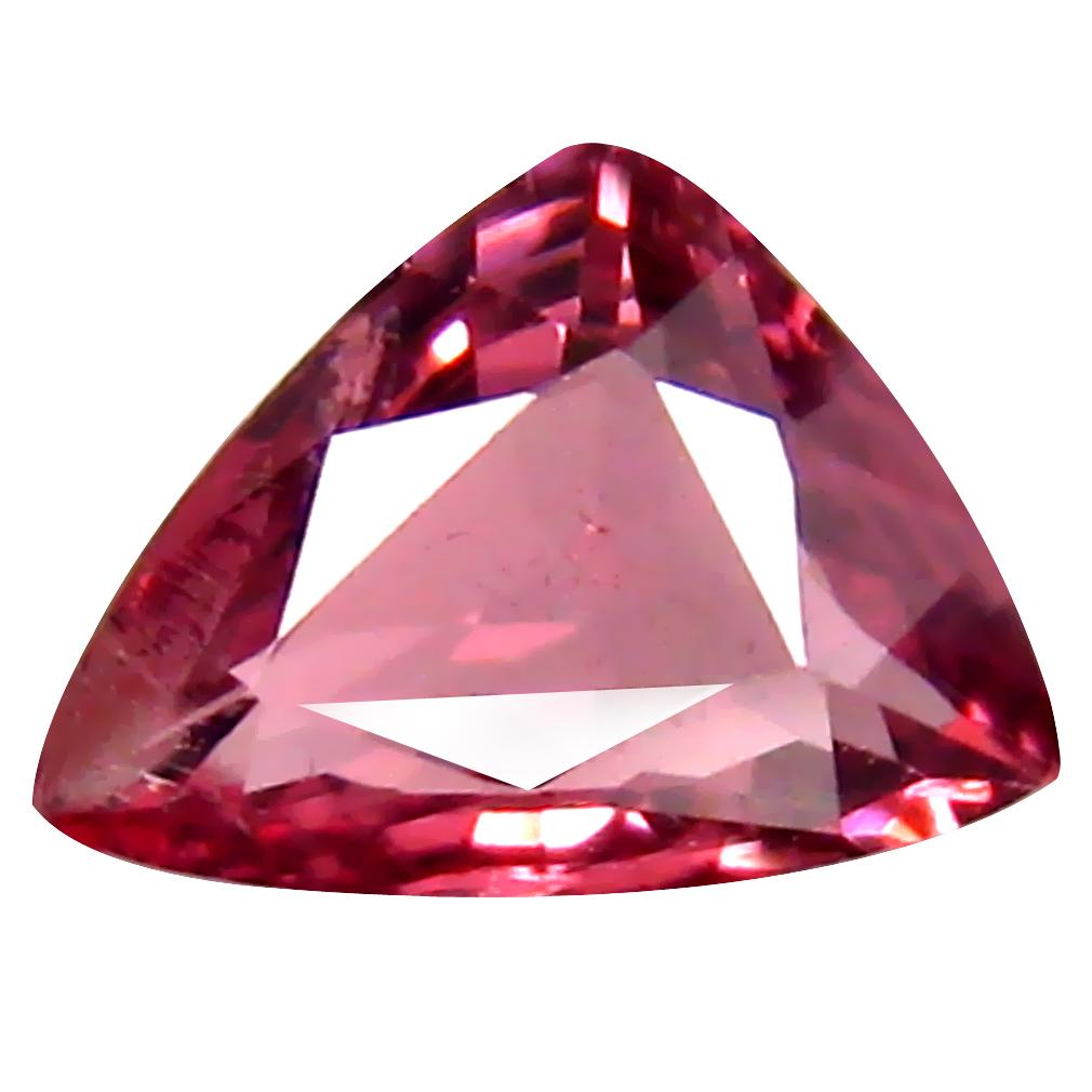 0.74 ct AAA+ Super-Excellent Trillion Shape (6 x 5 mm) Pink Malaya Garnet Natural Gemstone