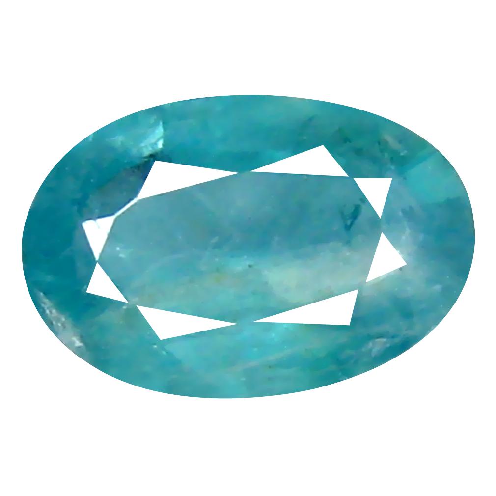 0.86 ct Charming Oval Cut (8 x 5 mm) Unheated / Untreated Greenish Blue Grandidierite Natural Gemstone