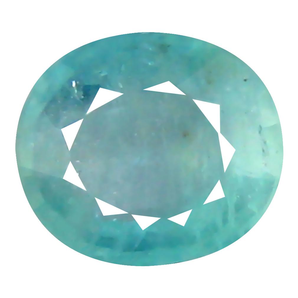 0.58 ct Fair Oval Cut (6 x 5 mm) Unheated / Untreated Greenish Blue Grandidierite Natural Gemstone