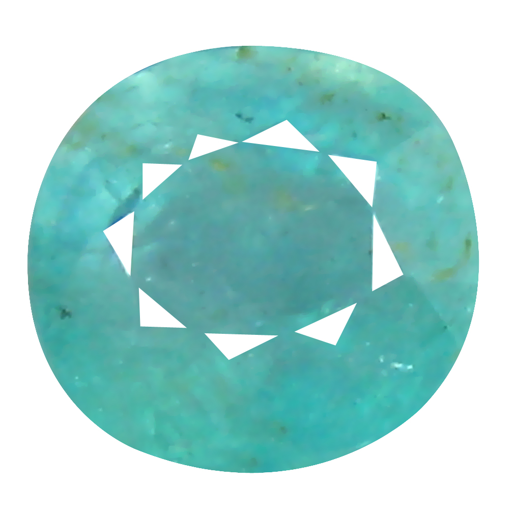 0.85 ct Excellent Oval Cut (6 x 6 mm) Unheated / Untreated Greenish Blue Grandidierite Natural Gemstone