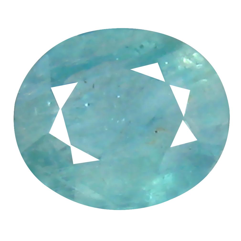0.57 ct Splendid Oval Cut (6 x 5 mm) Unheated / Untreated Greenish Blue Grandidierite Natural Gemstone