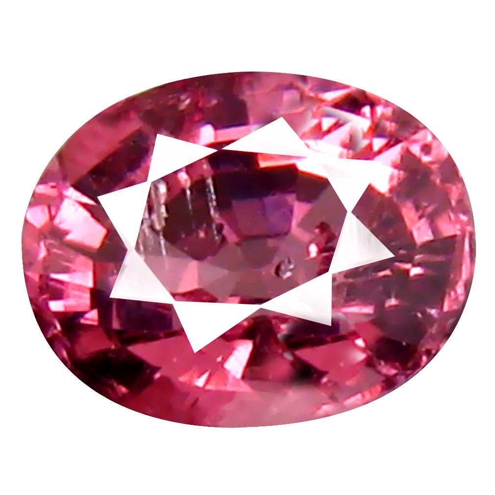 1.17 ct Remarkable Oval Cut (7 x 5 mm) Tanzania Pink Malaya Garnet Natural Gemstone