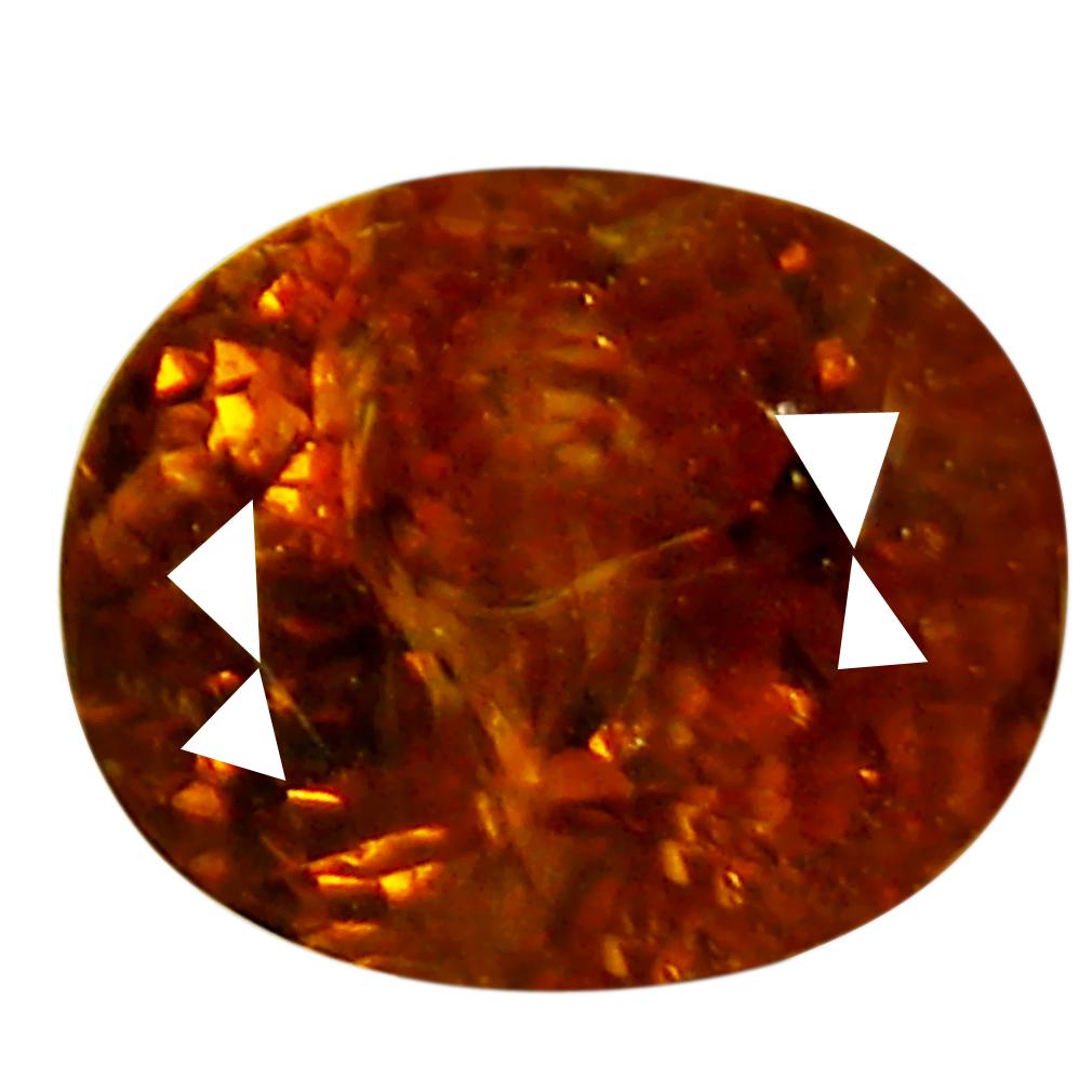 1.76 ct Phenomenal Oval Cut (7 x 6 mm) Golden Yellow Un-Heated Mali Garnet Natural Gemstone