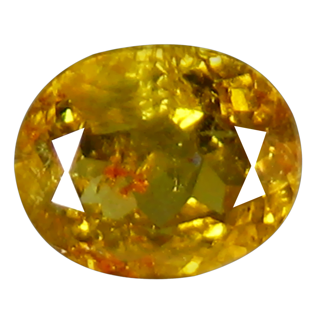 0.96 ct Pretty Oval Cut (7 x 5 mm) Golden Yellow Un-Heated Mali Garnet Natural Gemstone