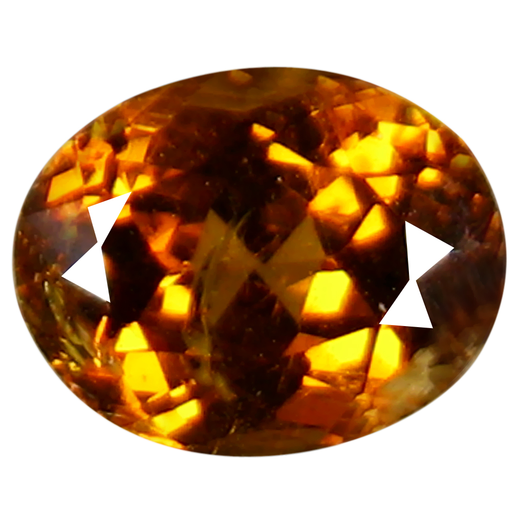 1.29 ct Amazing Oval Cut (7 x 6 mm) Golden Yellow Un-Heated Mali Garnet Natural Gemstone