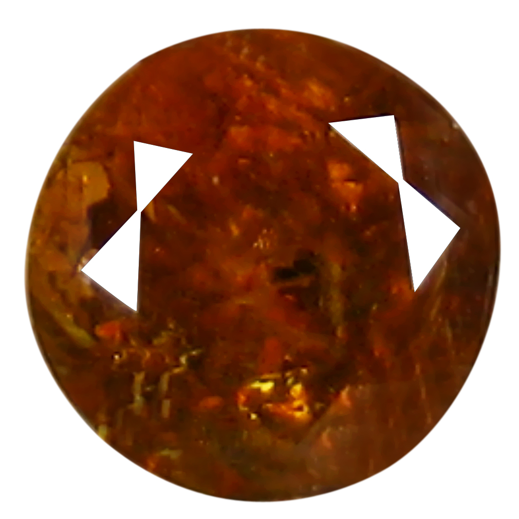 1.36 ct Five-star Round Cut (6 x 6 mm) Golden Yellow Un-Heated Mali Garnet Natural Gemstone