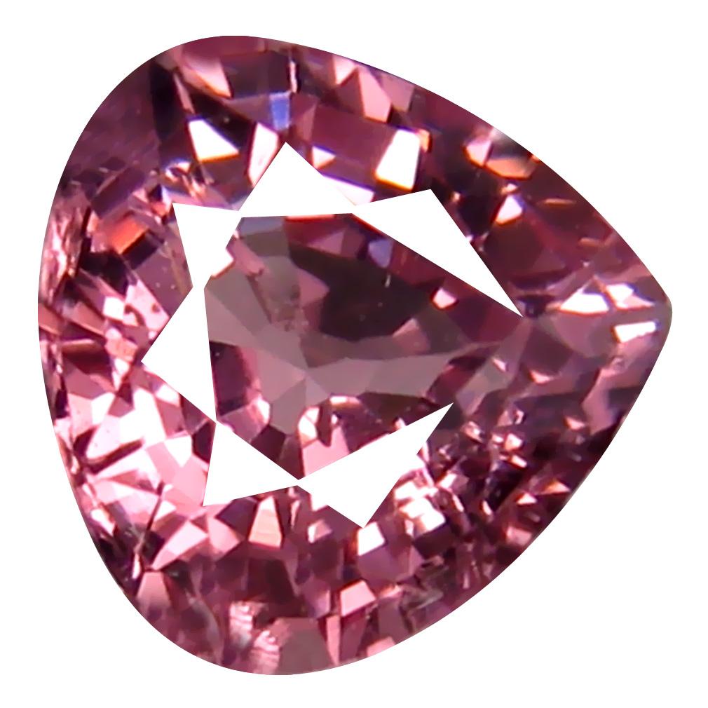 0.97 ct AAA+ Significant Pear Shape (6 x 6 mm) Pink Malaya Garnet Natural Gemstone