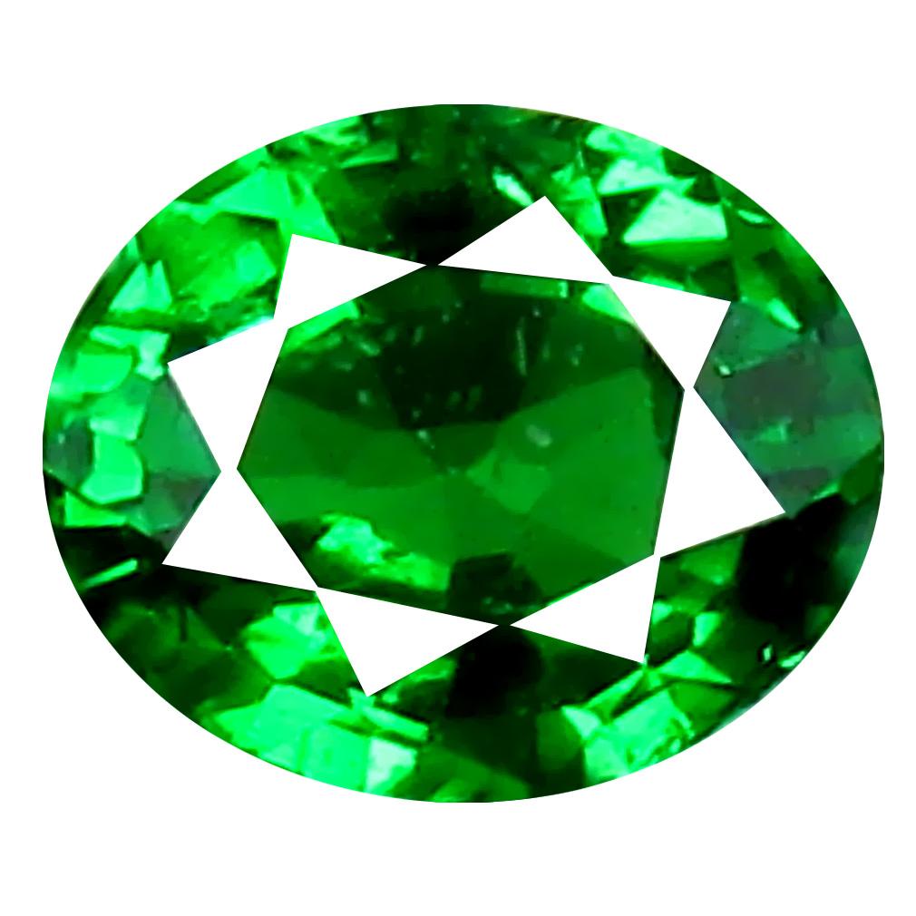 0.46 ct Terrific Oval Cut (5 x 4 mm) Tanzanian Green Tsavorite Garnet Loose Gemstone